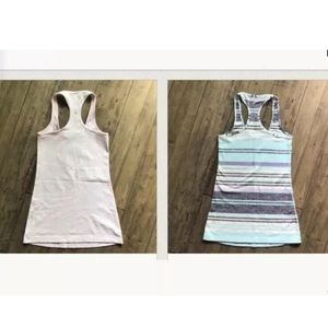LULULEMON lot of 2 Racerback Tanks 2